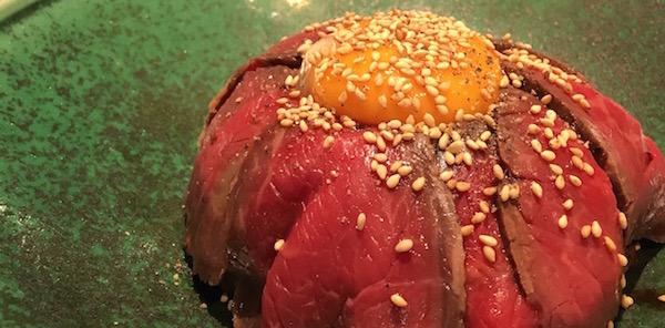 絶品の熟成神戸牛ローストビーフ丼をランチで。听(ポンド) 神谷町店